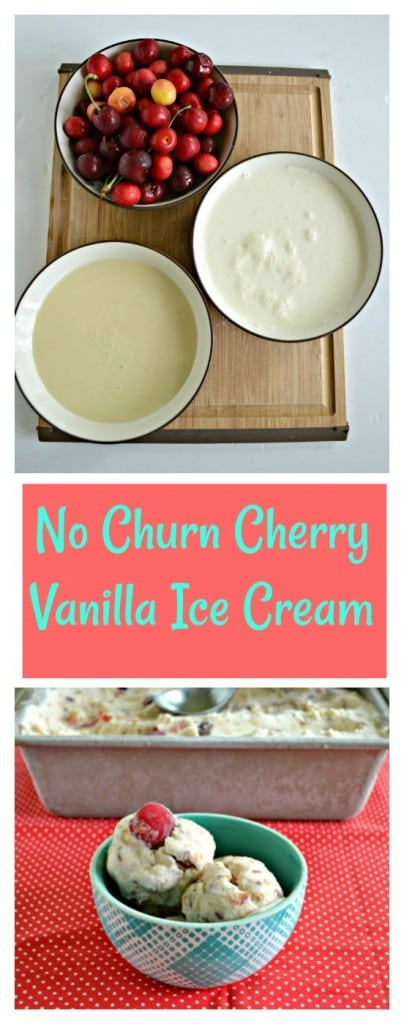 It only takes a few ingredients to make this awesome No Churn Cherry Vanilla Ice Cream