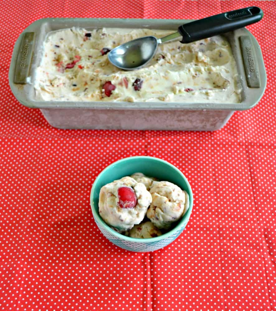 Looking for a summer treat? Check out this delicious No Churn Cherry Vanilla Ice Cream!