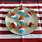 Red, White, and Blue Chocolate Covered Strawberries #July4Recipes