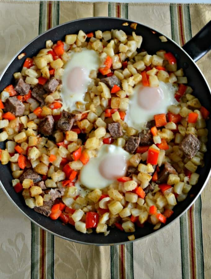 Fry up this delicious and hearty Steak and Eggs Breakfast Hash!