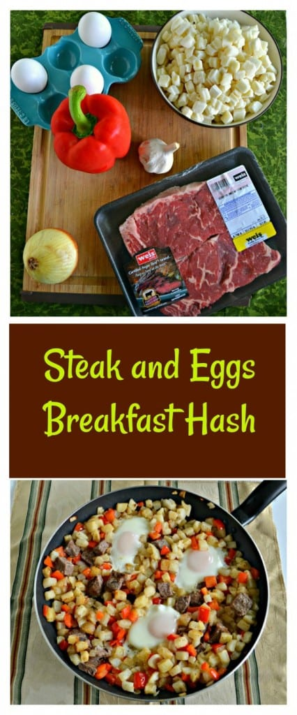 Grab your favorite Certified Angus Beef Brand steak and make this awesome Steak and Eggs Breakfast Hash!