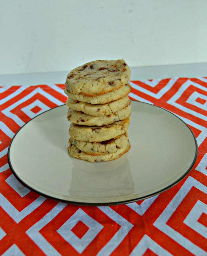You'll want to make a double batch of these delicious Toffee Icebox Cookies!