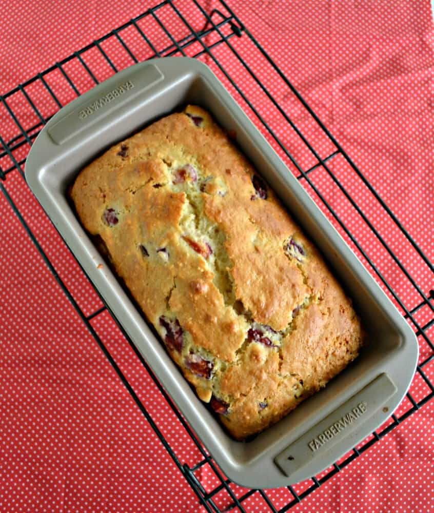 I love the flavor in this awesome Cherry Almond Quick Bread!
