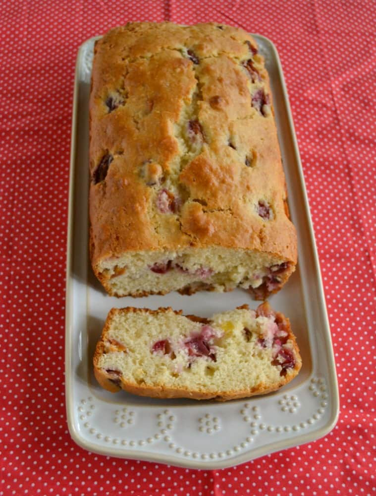 Love this Cherry Almond Quick Bread made with fresh cherries and almond paste!