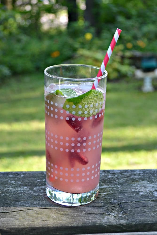 Sip on this refreshing Cherry Lemonade Spritzer all summer long!