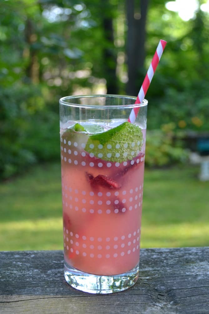 I love sipping on this refreshing Cherry Lemonade Spritzer all summer long