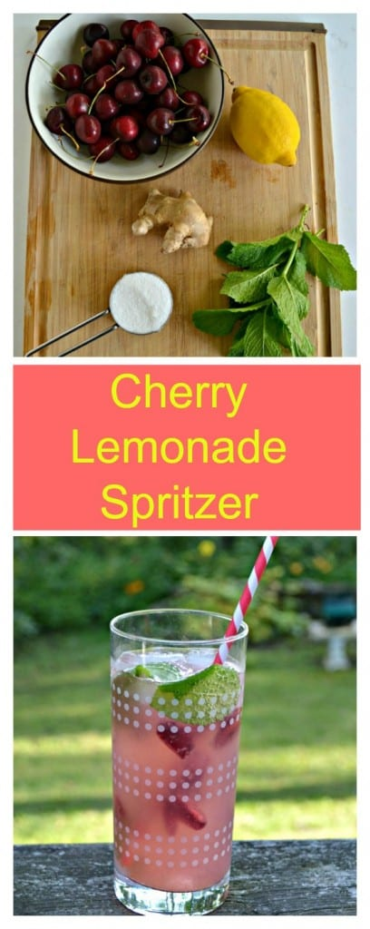 Everything you need to make these delicious Cherry Lemonade Spritzers