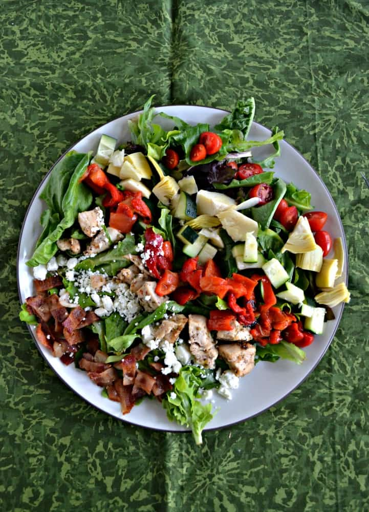Put a twist on the traditional Cobb Salad with this delicious Greek Cobb Salad!