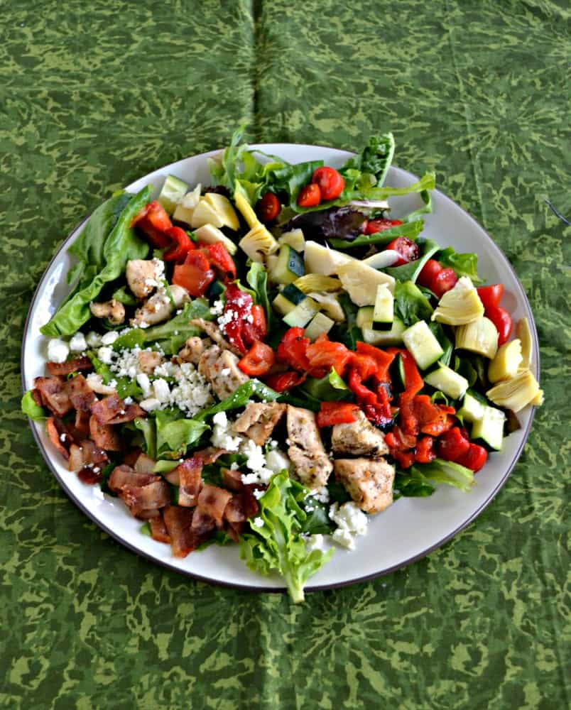 Looking for a delicious entree salad? Try this tasty Greek Cobb Salad with homemade dressing!