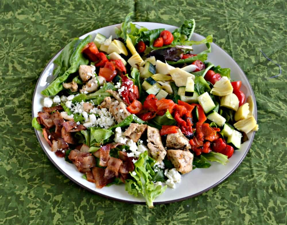 Grab some fresh vegetables and make this delicious Greek Cobb Salad!