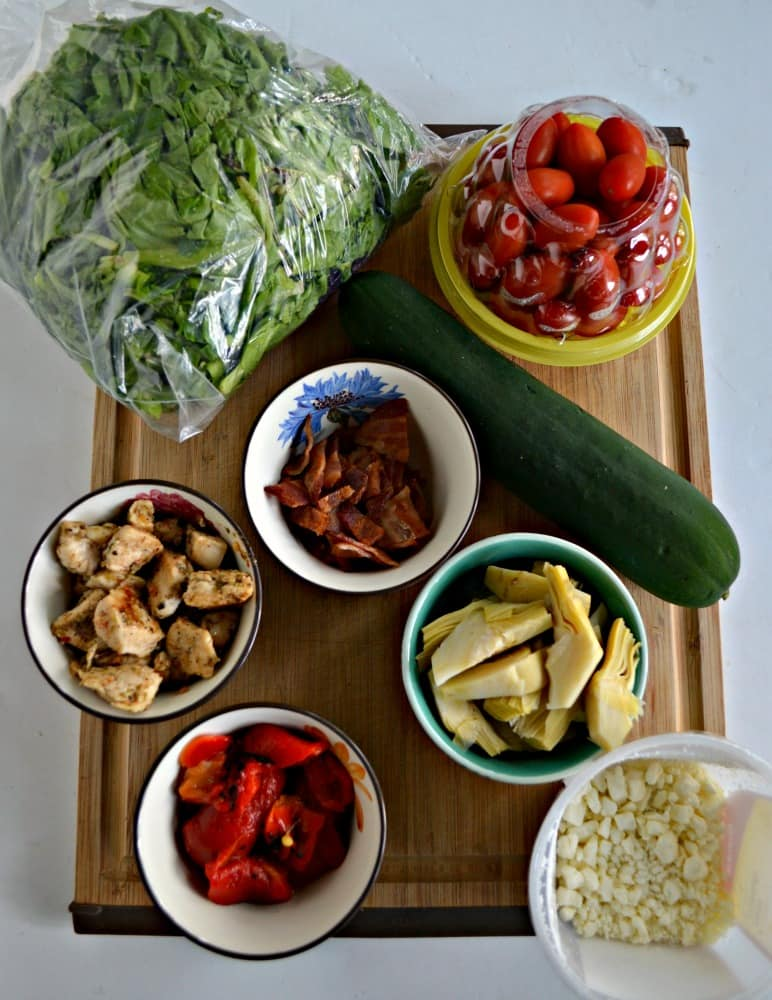 Everything you need to make a tasty Greek Cobb Salad