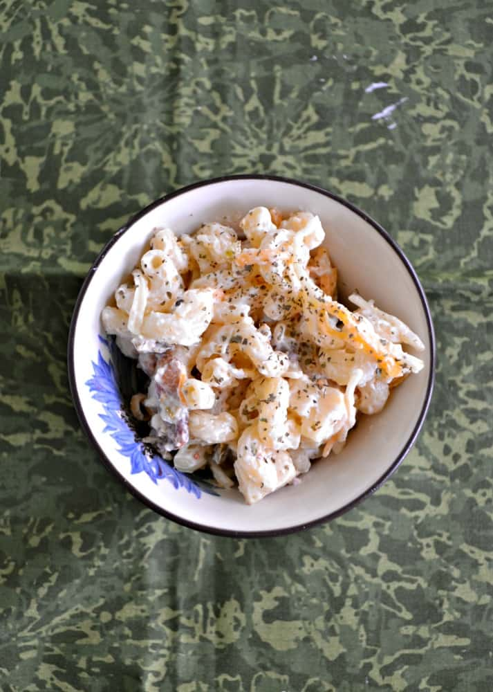 Jalapeno Popper Macaroni Salad is a delicious twist on the classic!