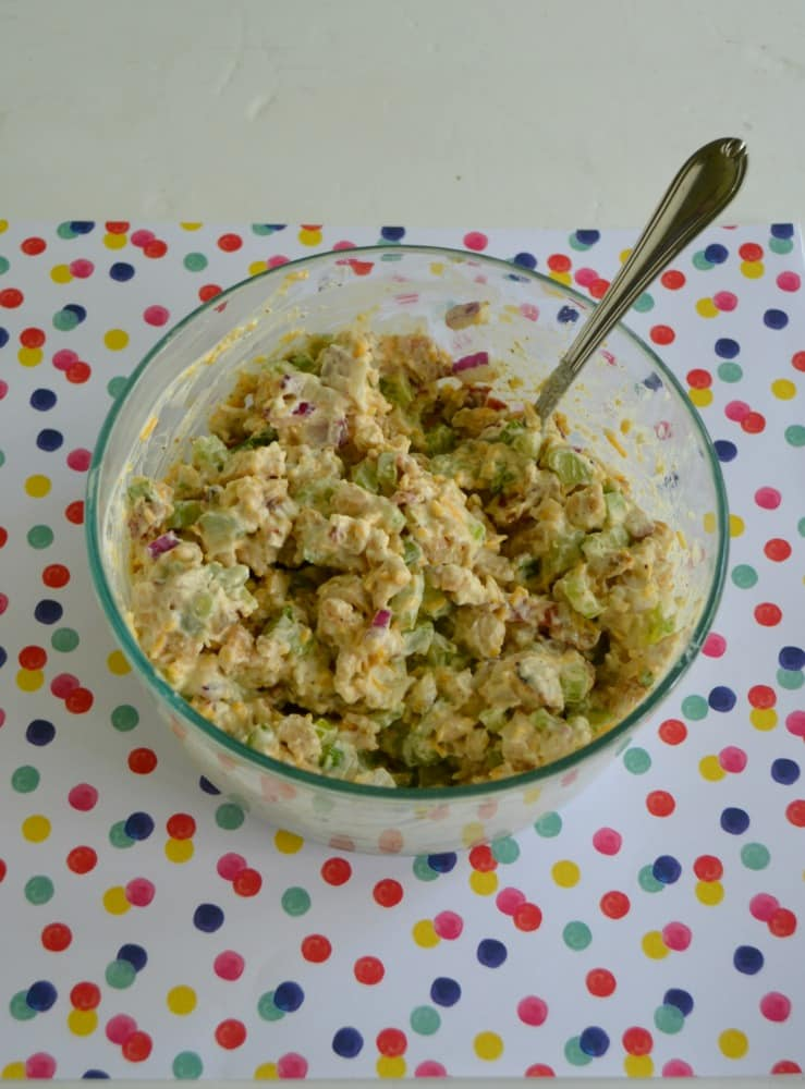 Looking for a great lunch recipe?   Check out this Loaded Chicken Salad!