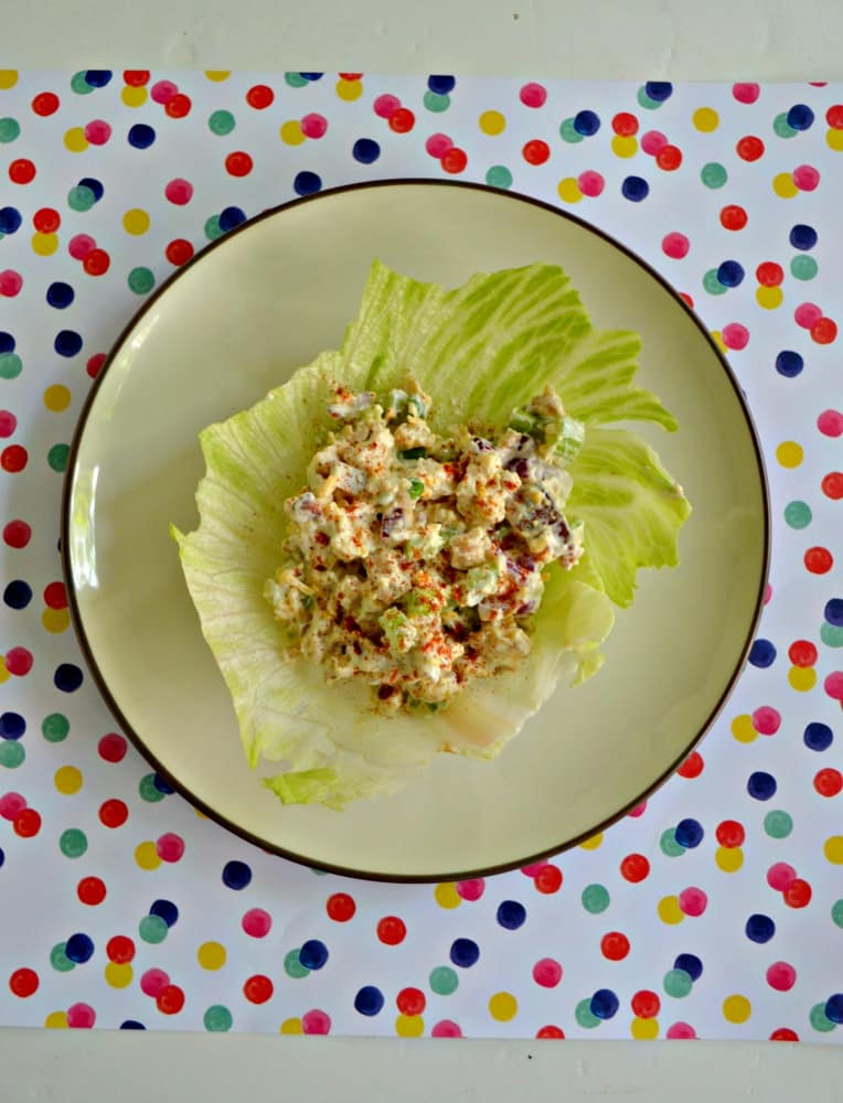 Loaded Chicken Salad is great as a sandwich or with crackers!