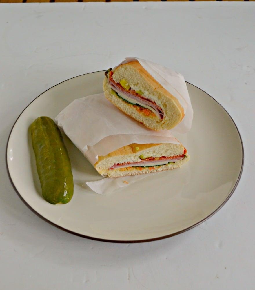 Delicious Muffuletta Sandwich