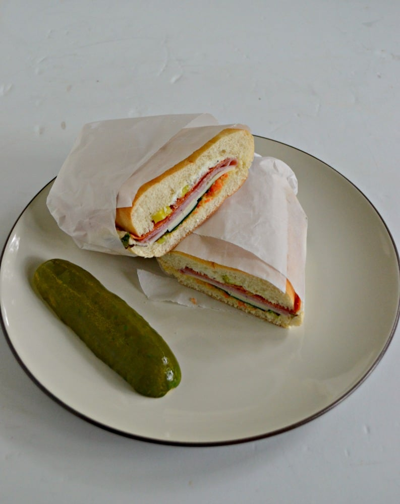 I love the meats and cheeses in this delicious Muffuletta Sandwich!
