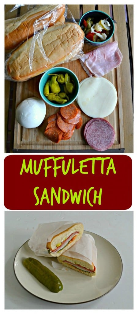 Muffuletta Sandwiches are stuffed with meats, cheeses, and vegetables for the ultimate sandwich recipe!