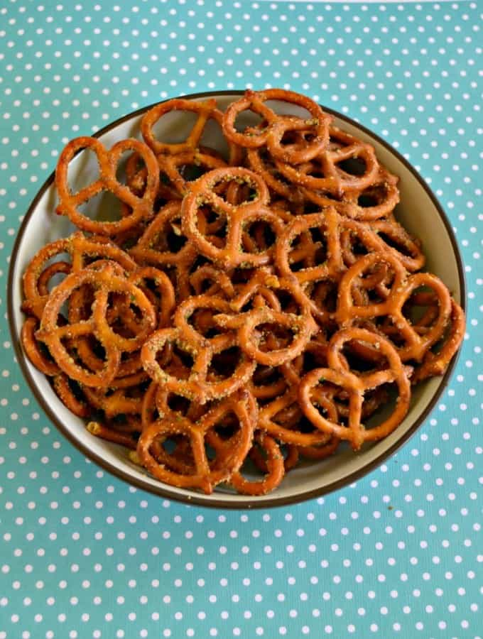 Spicy Ranch Pretzels are a hit in lunchboxes and on road trips!
