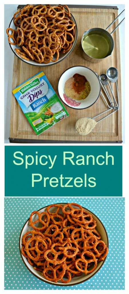 It's easy to make these tasty Spicy Ranch Pretzels