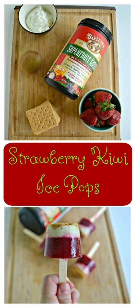 Looking for a fun frozen treat? Take a lick of these Strawberry Kiwi Ice Pops!