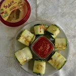 Zucchini Roll Ups with Hummus and Mozzarella