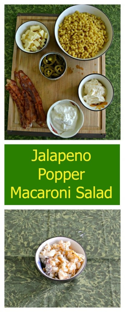 It's easy to make this spicy Jalapeno Popper Macaroni salad recipe!