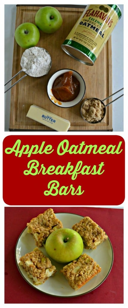 Everything you need to make delicious Apple Oatmeal Breakfast Bars