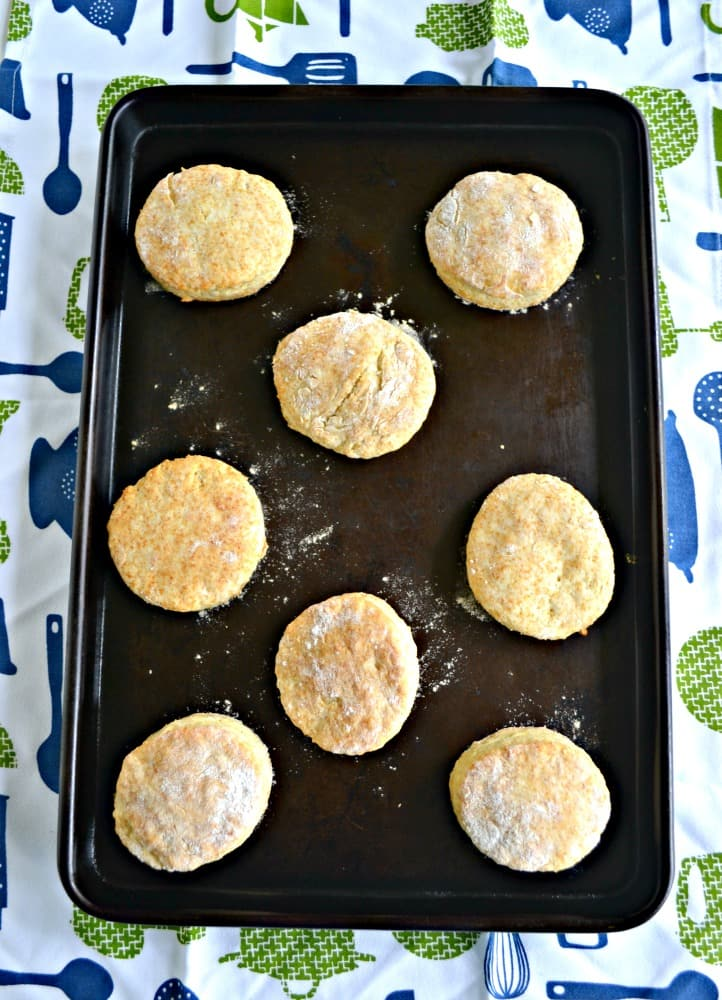 These fluffy Buttermilk Biscuits come from a homemade mix that you can store in your pantry for months!