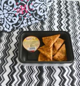 Lemon Parmesan Pita Chips + Sabra Hummus