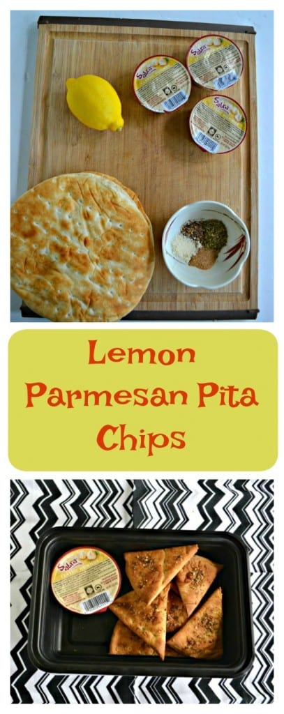 It's easy to make homemade Lemon Parmesan Pita Chips!