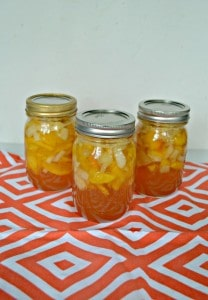 Spiced Peach Pie Filling