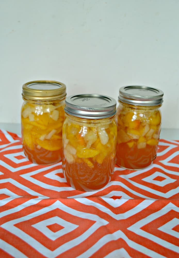 Grab some fresh peaches and can delicious Peach Pie Filling