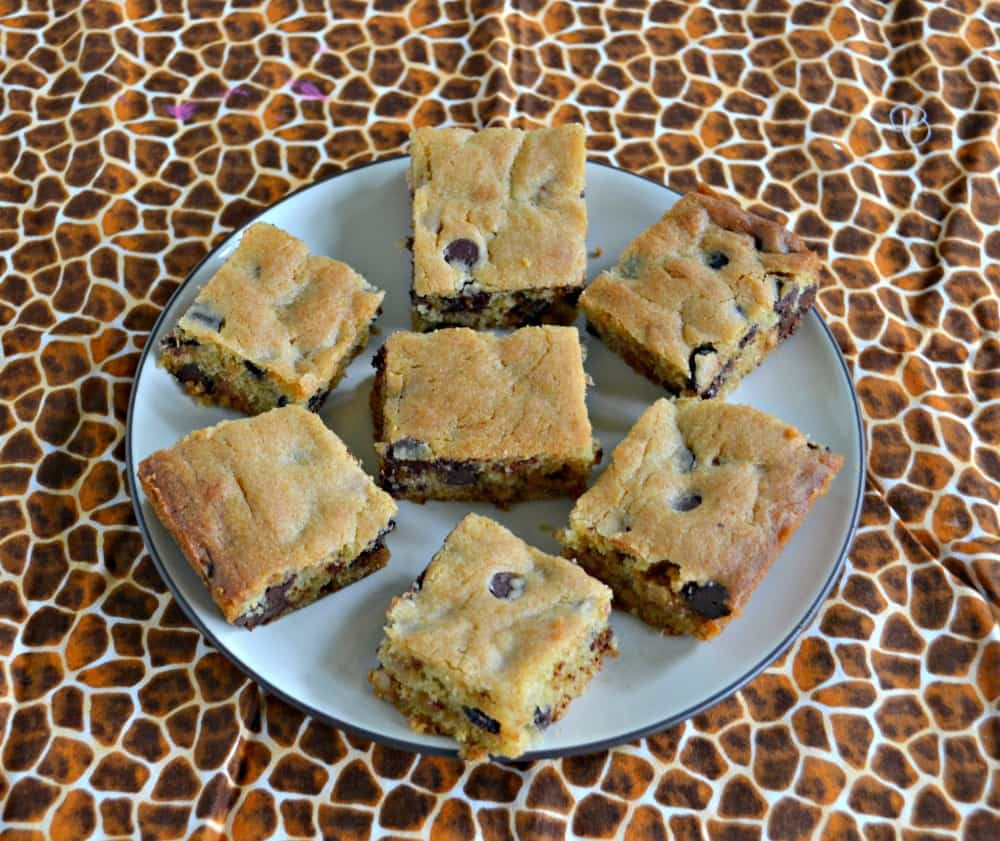 Kids and adults will love taking a bite out of these Salted Caramel Chocolate Chip Cookie Bars!