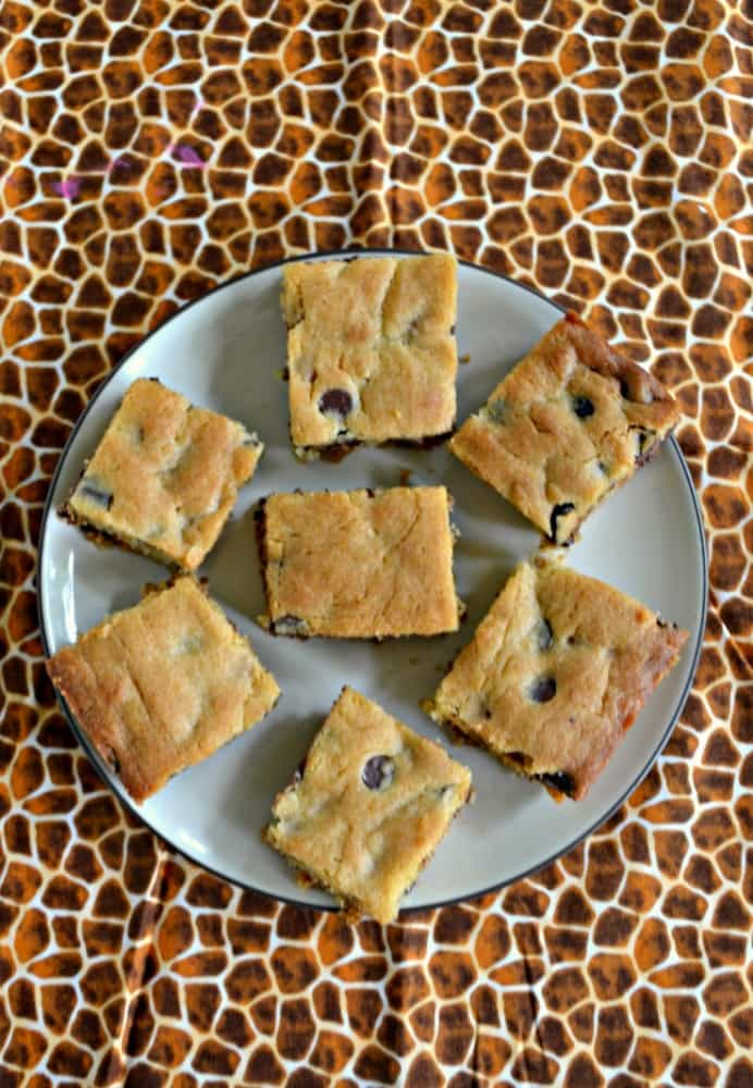 Looking for a delicious dessert? Try these Salted Caramel Chocolate Chip Cookie Bars!