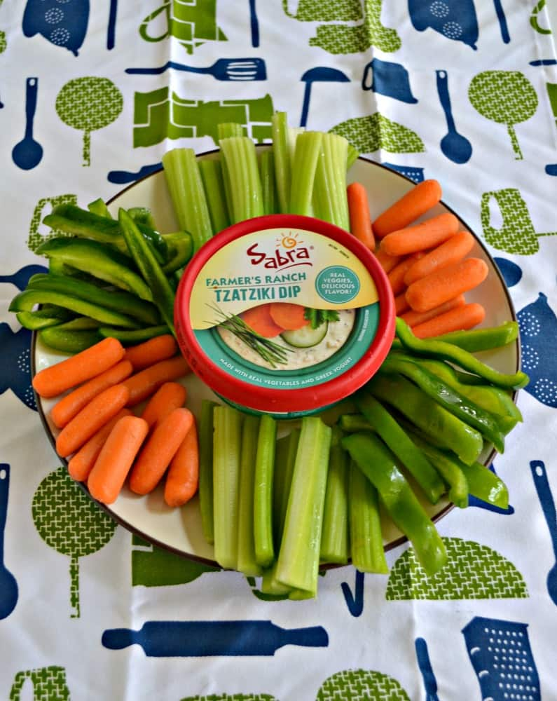 Sabra Tzatziki Dips are delicious when served with vegetables!