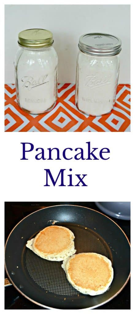 Make Homemade Pancake Mix and have homemade pancakes any time!