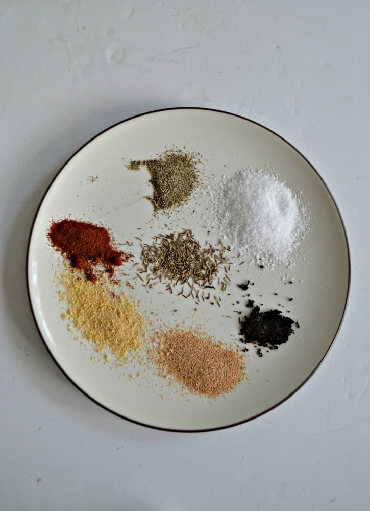 There's just 7 common pantry ingredients in my Easy Steak rub!