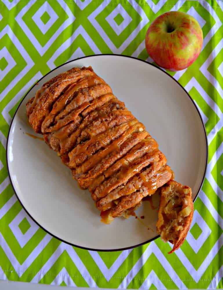 You'll want to grab more than one piece of this Caramel Apple Pull Apart Bread!