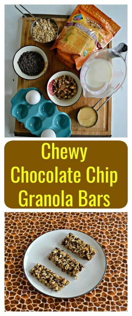 Looking for a delicious snack that's healthy and will fill you up? Try my Chewy Chocolate Chip Granola Bars!