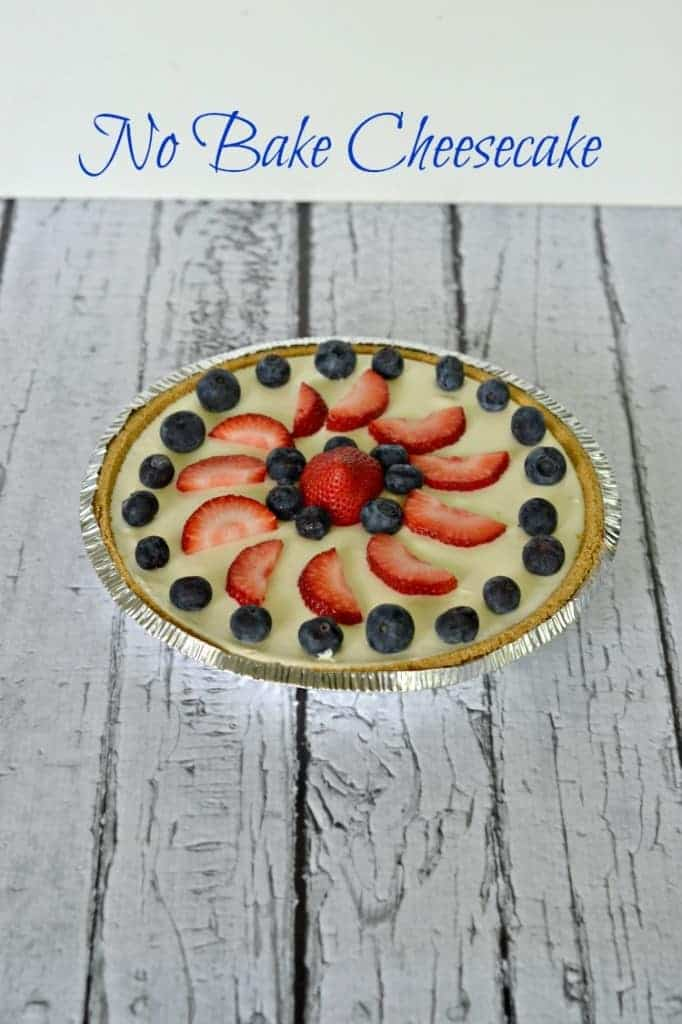 No Bake Cheesecake with fresh fruit | #SundaySupper