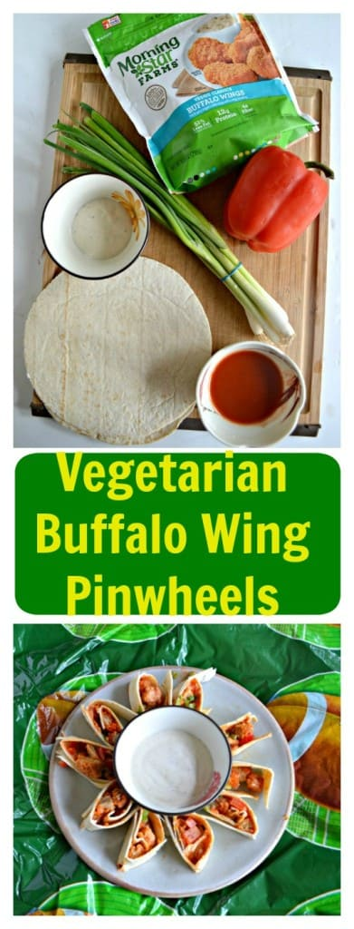 Game Time needs snacks and these Vegetaarian Buffalo Wing Pinwheels are delicious!