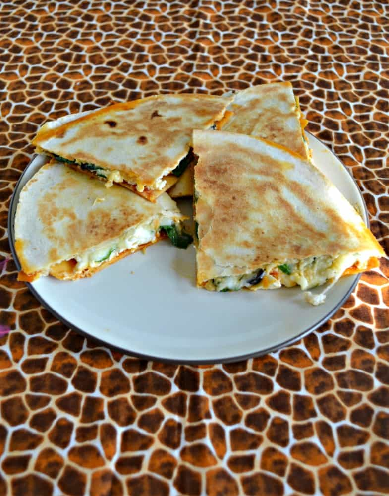 "Need an ""Unofficial Meal"" in between lunch and dinner? Try these Greek Quesadillas for something different!"