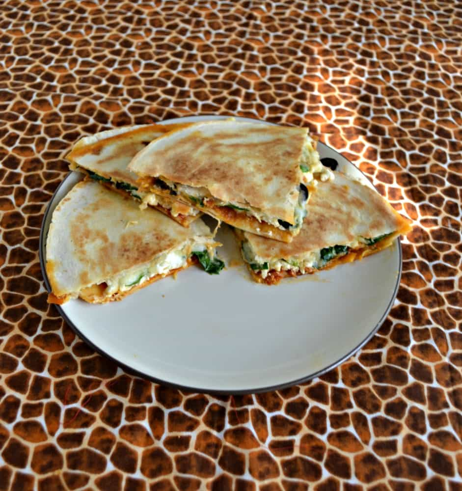 You'll love the flavors in these delicious Greek Quesadillas