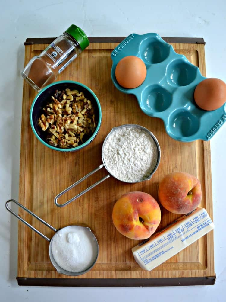 Everything you need to make Peach Walnunt Quick Bread