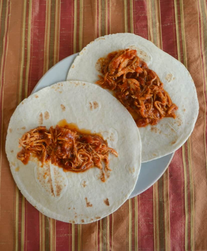 Make these Slow Cooker Chicken Tacos now or freeze the ingredients for later!
