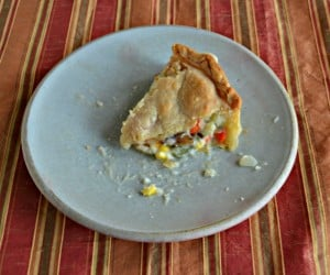 This chicken pot pie tastes great and can be frozen ahead of time!