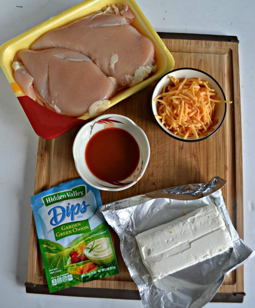 Everything you need to make Crack Chicken!
