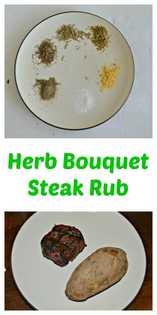 We love this easy Herb Bouquet Steak Rub on our grilled steaks!