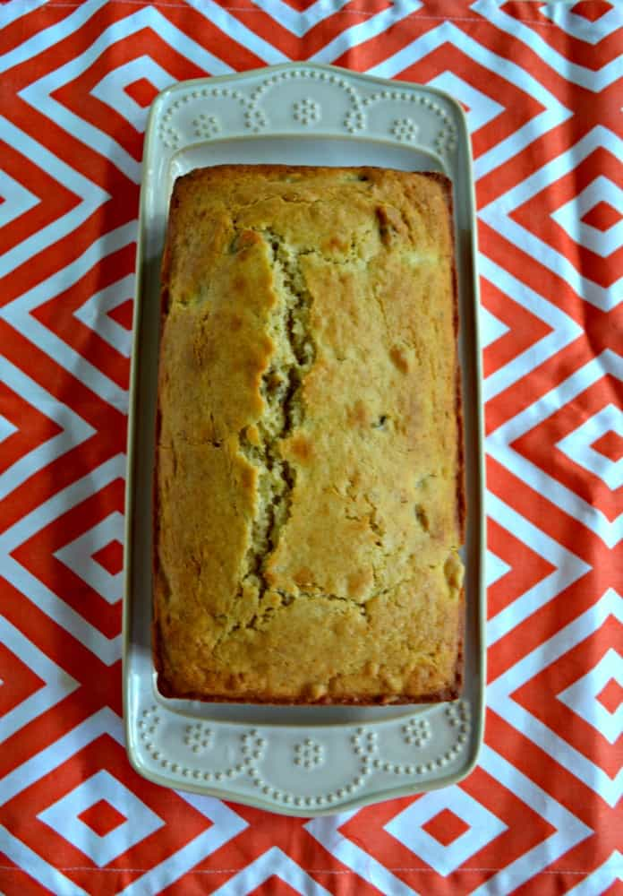 Peach Walnut Quick Bread is an easy and delicioius snack!