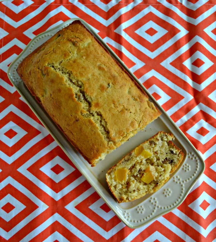 Peach Walnut Quick Bread is a delicious snack or breakfast